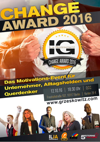 Change-Award 2016 in Berlin